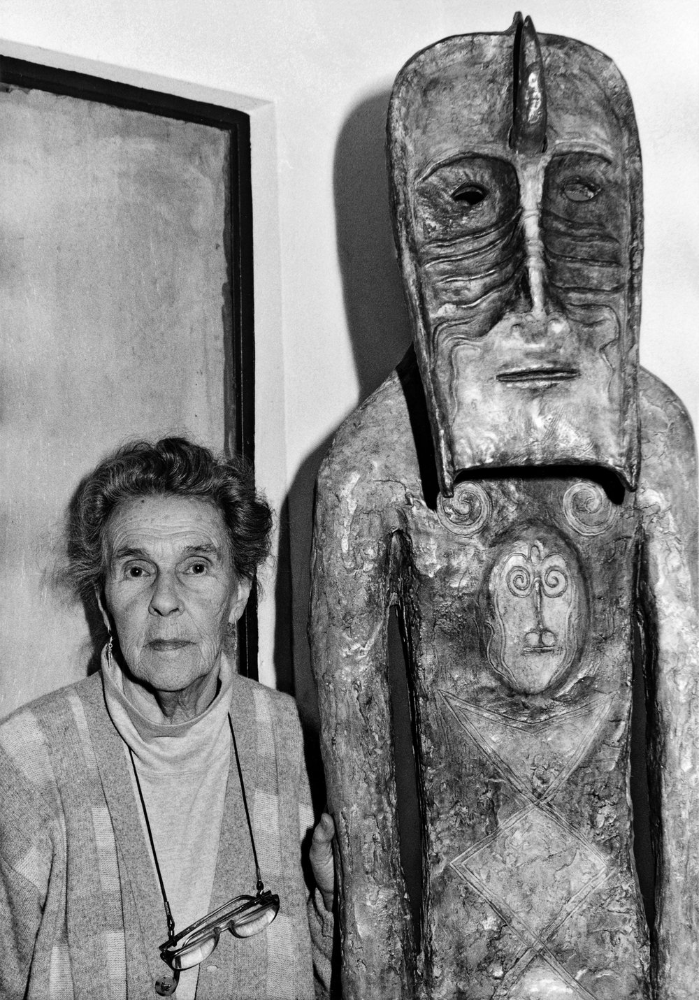 Leonora Carrington photographed by Chloe Aridjis 1994