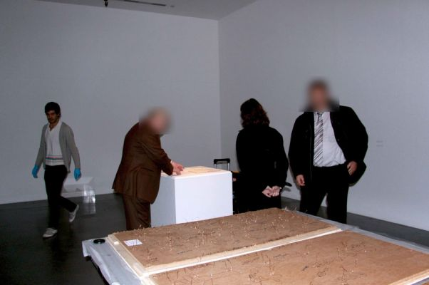 The AIVD confiscates Becoming Tarden from the Tate Modern. January 2010.